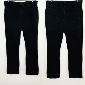 NYDJ High Rise Black Wash Bootcut Jeans